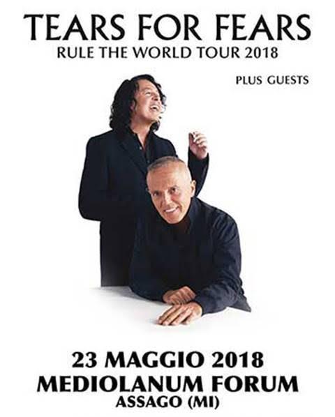 Tears For Fears - Medilamum Forum - Rule The World Tour 2018 - Promo