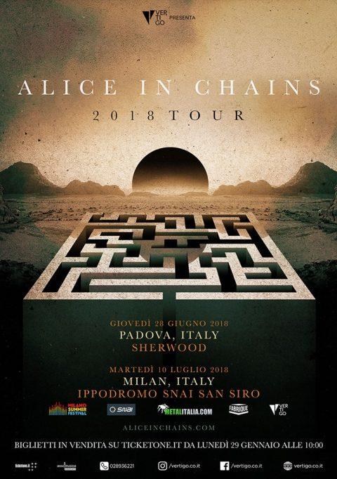 Alice In Chains - Tour 2018 - Promo