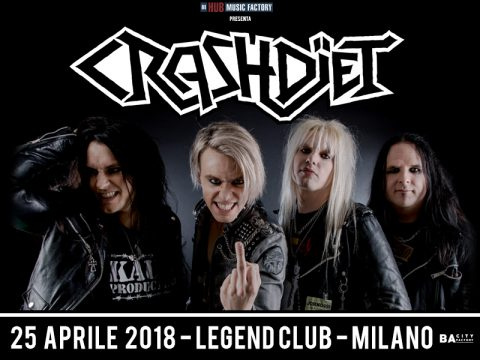 Crashdiet - Legend Club - Tour 2018 - Promo