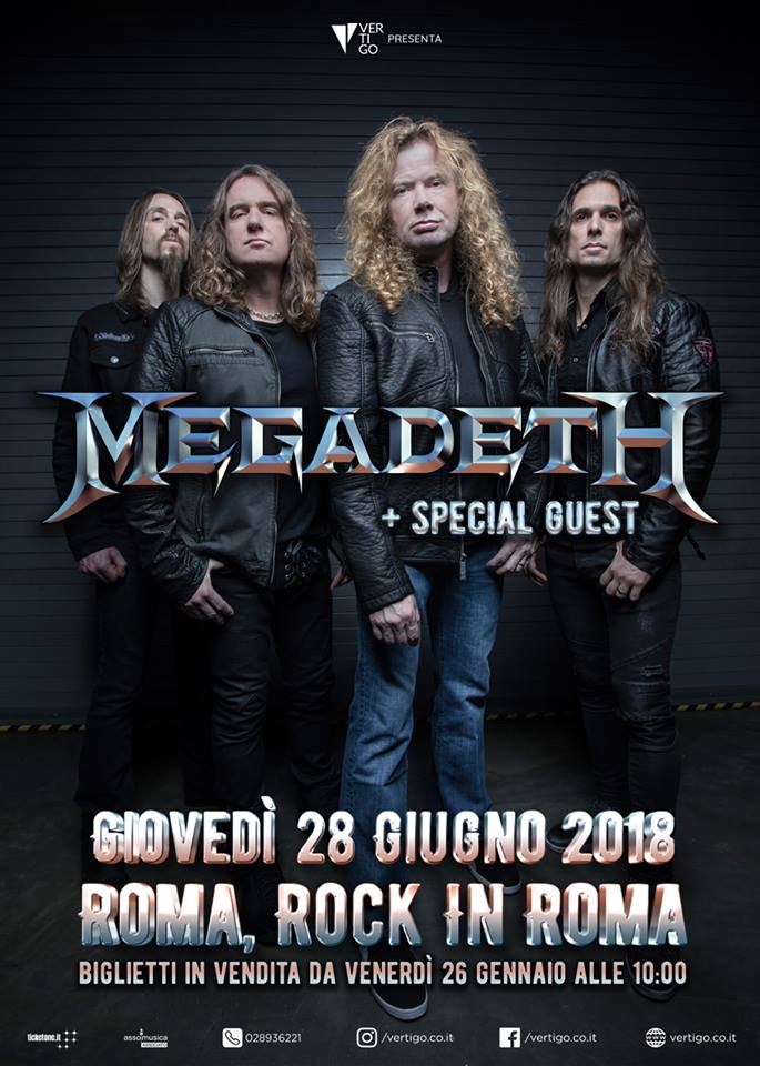 Megadeth - Rock In Roma - Tour 2018 - Promo