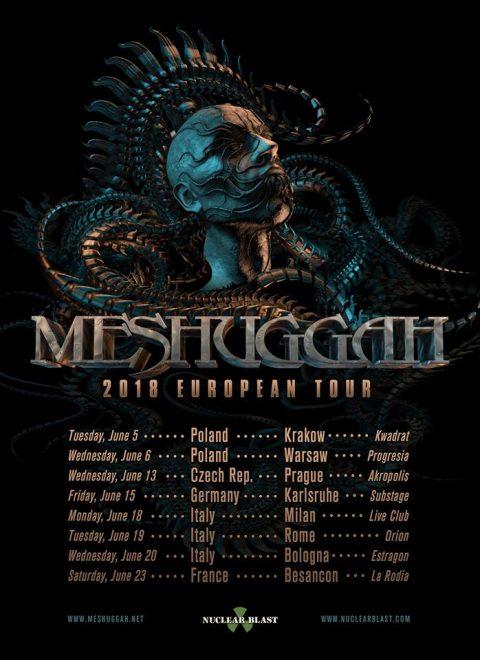 Meshuggah - European Tour 2018 - Promo