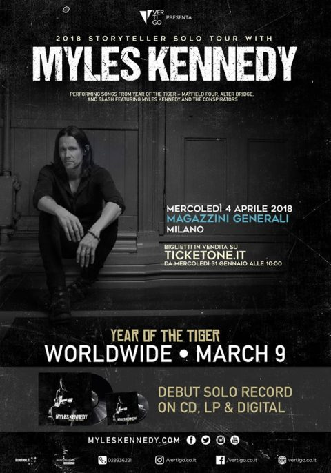 Myles Kennedy - Magazzini Generali - Storyteller Solo Tour 2018 - Promo
