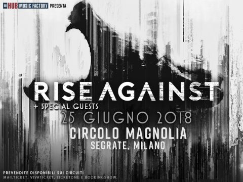 Rise Against - Circolo Magnolia - Tour 2018 - Promo