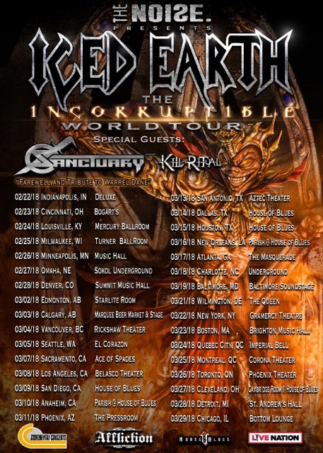 Sanctuary - Iced Earth - Kill Ritual - World Tour 2018 - Promo