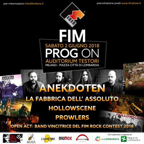 Anekdoten - La Fabbrica Dell'Assoluto - Hollowscene - Prowlers- Prog On Festival - 2018 - Promo