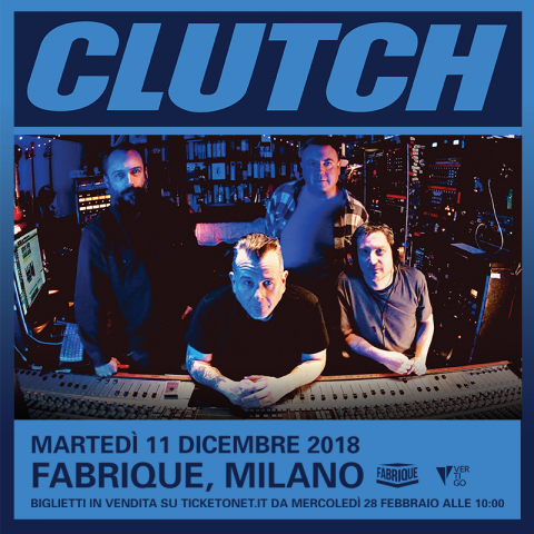 Clutch - Fabrique - Tour 2018 - Promo