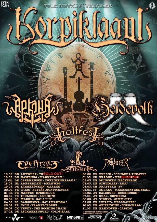 Korpiklaani - European Tour - 2018 - Promo