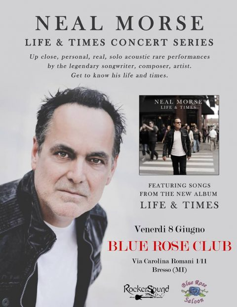 Neal Morse - Blue Rose Club - Life & Times Concert Series - Tour 2018 - Promo