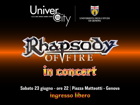 Rhapsody Of Fire - Piazza Matteotti - Tour 2018 - Promo