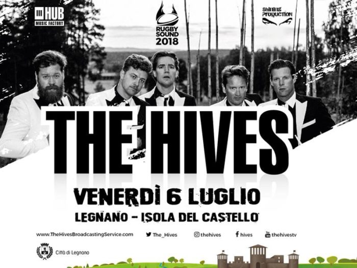 The Hives - Rugby Sound Festival - Isola Del Castello - Tour 2018 - Promo
