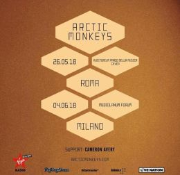 Arctic Monkeys - Italian Tour 2018 - Promo