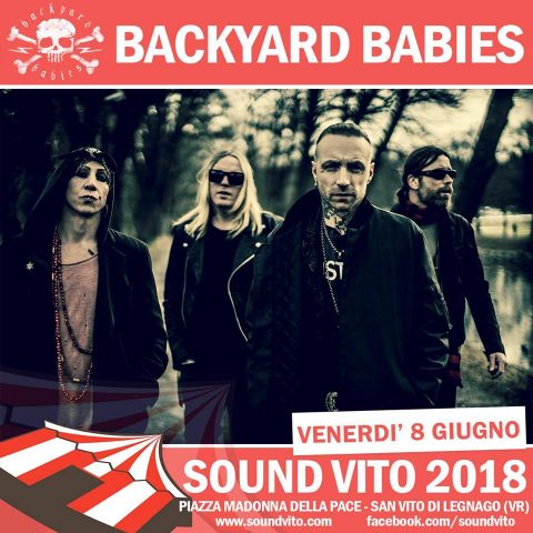 Backyard Babies - Sound Vito Festival - Tour 2018 - Promo