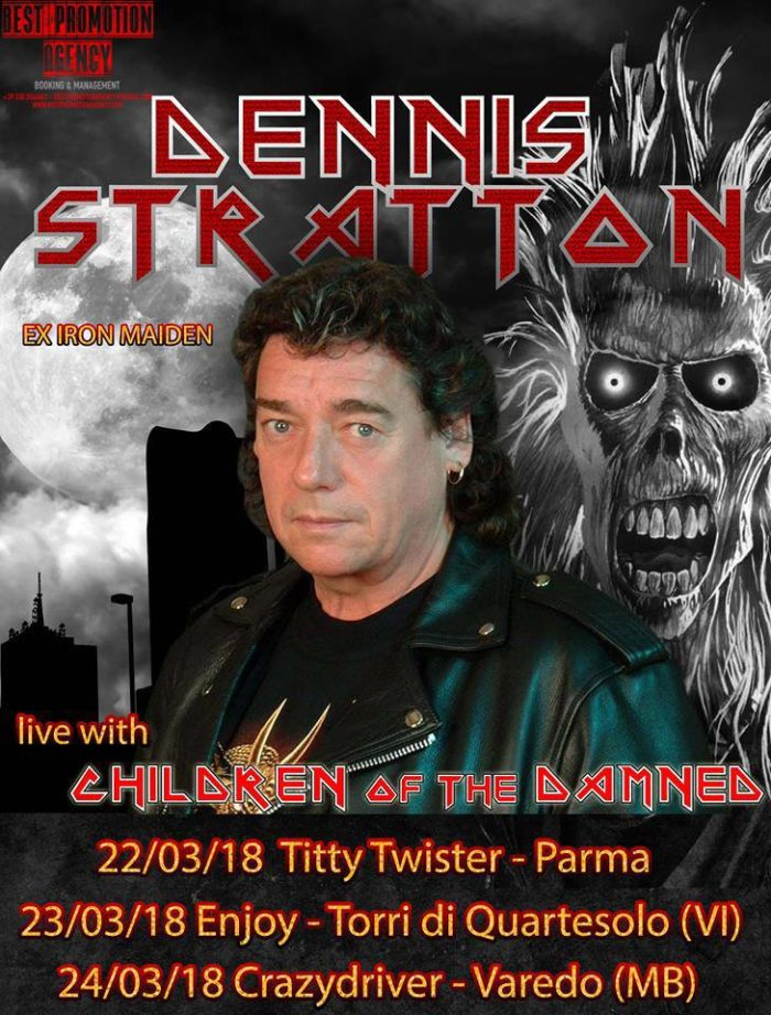 Dennis Stratton - Children Of The Damned - Italian Tour 2018 - Promo