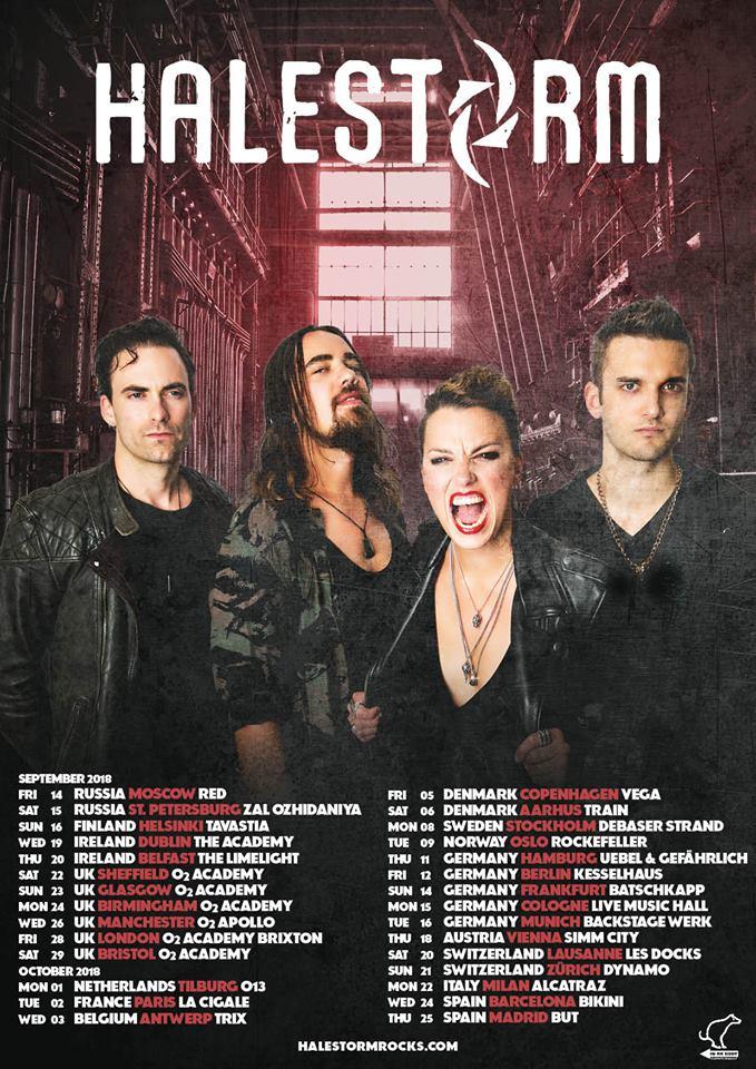 Halestorm - Tour 2018 - Promo