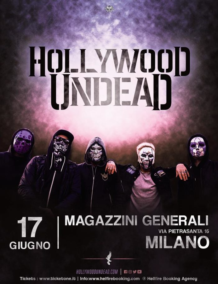 Hollywood Undead - Magazzini Generali - Tour 2018 - Promo