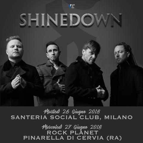 Shinedown - Italian Tour 2018 - Promo