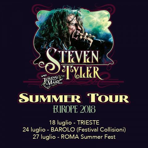 Steven Tyler And The Loving Mary Band - Summer Tour Europe 2018 - Promo