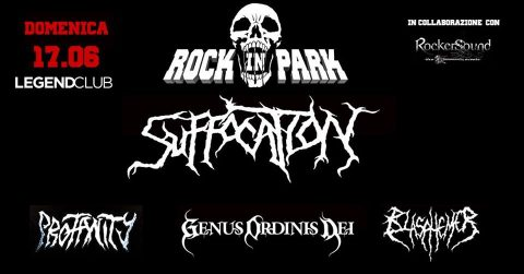 Suffocation - Profanity - Genus Ordinis Dei - Blasphemer - Legend Club - Tour 2018 - Promo