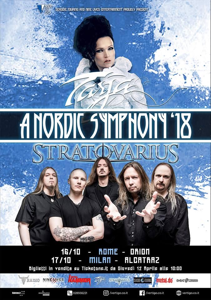 Tarja - Stratovarius - A Nordic Symphony - tour 2018 - Promo
