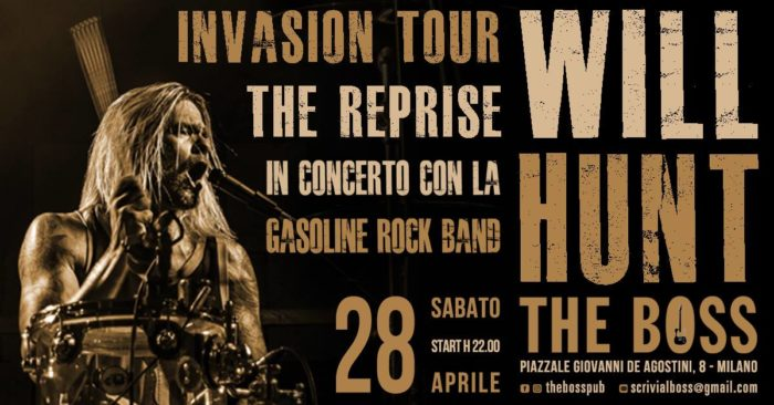 Will Hunt - Gasoline Rock Band - The Boss - Invasion Tour 2018 - Promo