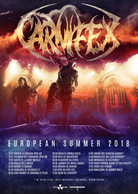 Carnifex - European Summer Tour 2018 - Promo
