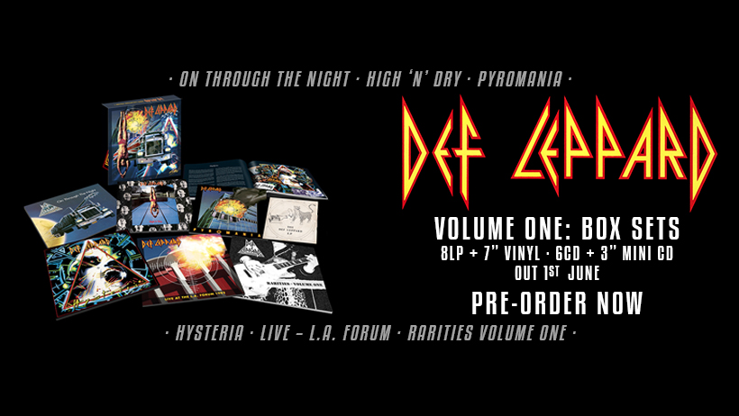 Def Leppard - Volume One - Box Set Cover