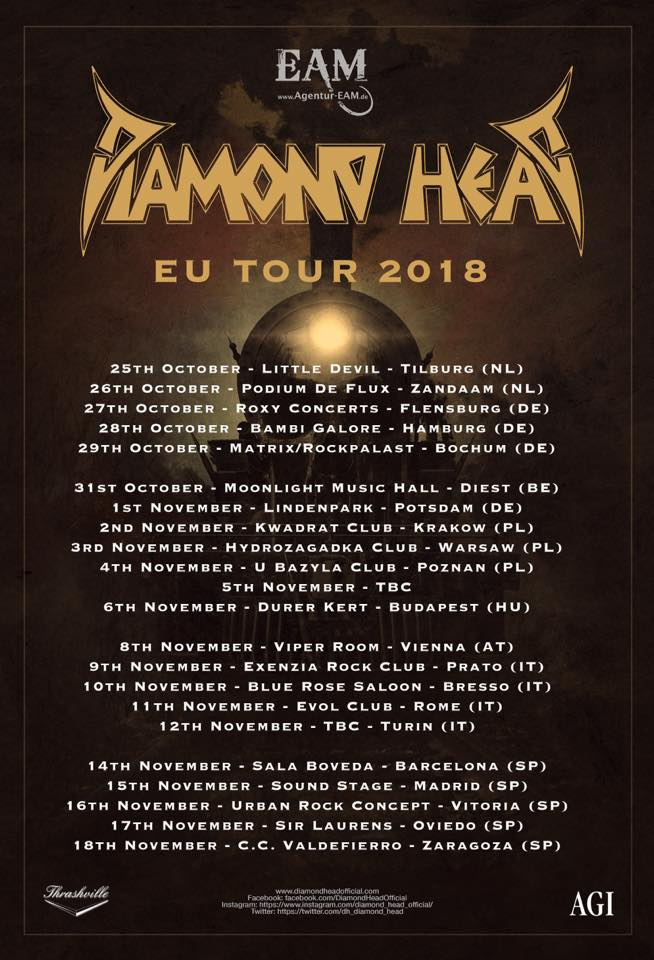 Diamond Head - EU Tour 2018 - Promo