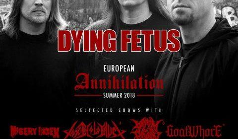Dying Fetus - Slaughter Club - European Annihilation Summer 2018 - Promo