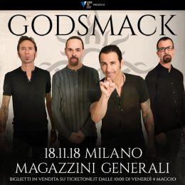 Godsmack - Magazzini Generali - Tour 2018 - Promo