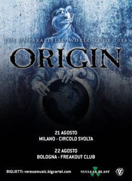 Origin - 2 date in Italia ad agosto 2018
