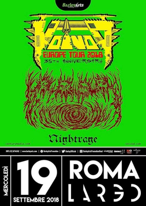 Voivod - Nightrage - Europe Tour 2018 - Promo