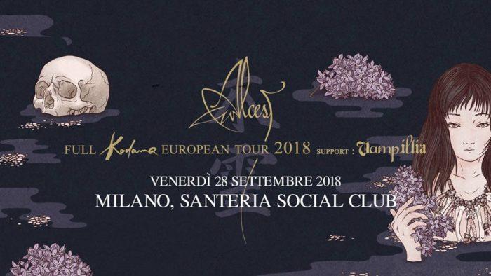 Alcest - Vampillia - Santeria Social Club - European Tour 2018 - Promo