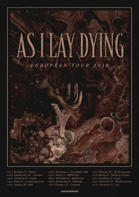 As I Lay Dying - European Tour 2018 - Promo