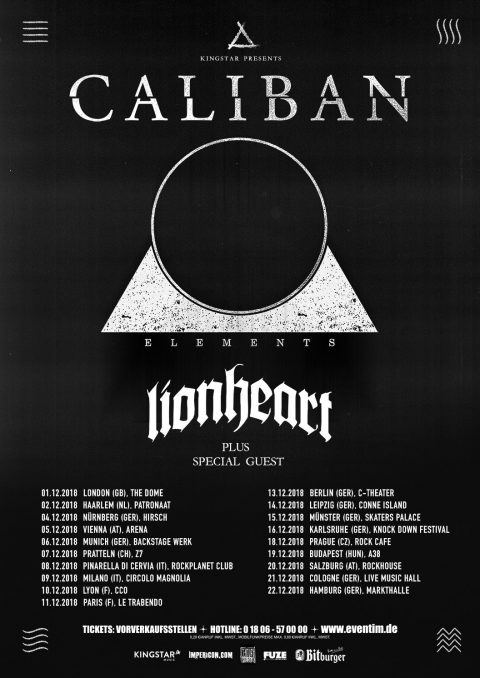 Caliban - Lionheart - Tour 2018 - Promo