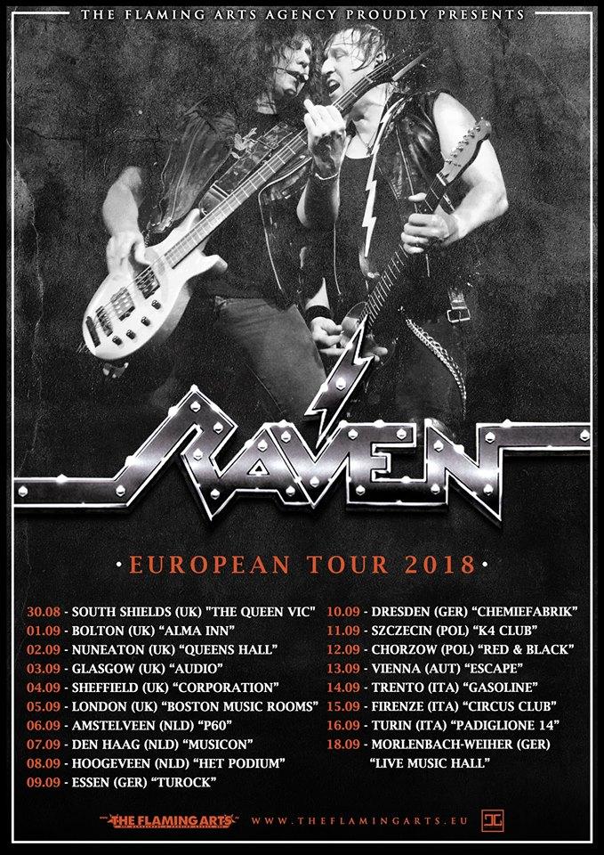 Raven - European Tour 2018 - Promo