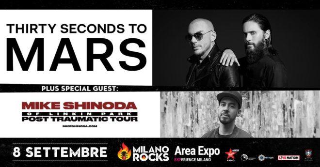 Thirty Seconds To Mars + Mike Shinoda @ Milano @ Experience Milano