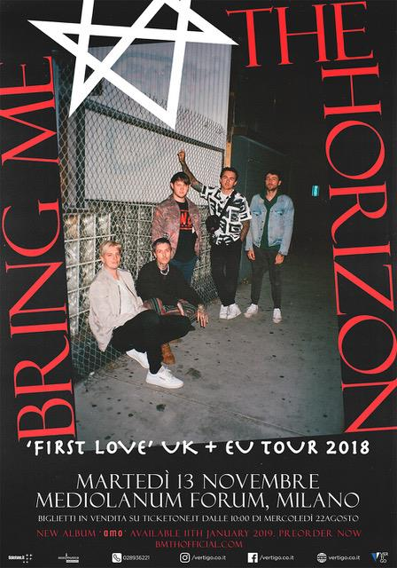 Bring Me The Horizon - Mediolanum Forum - First Love UK - EU Tour 2018 - Promo