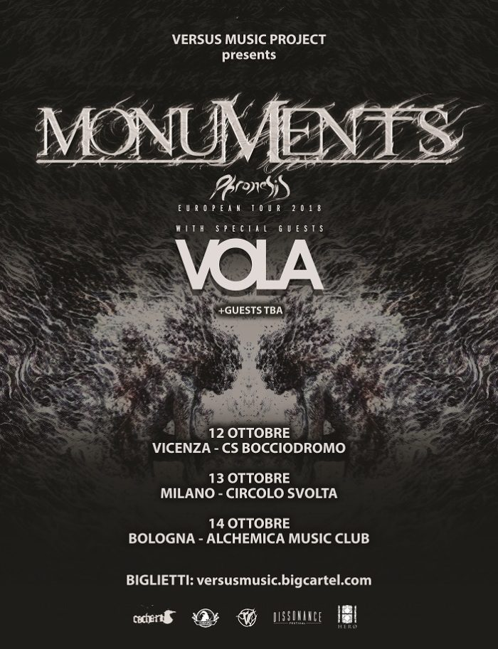 Monuments - Vola - European Tour 2018 - Promo