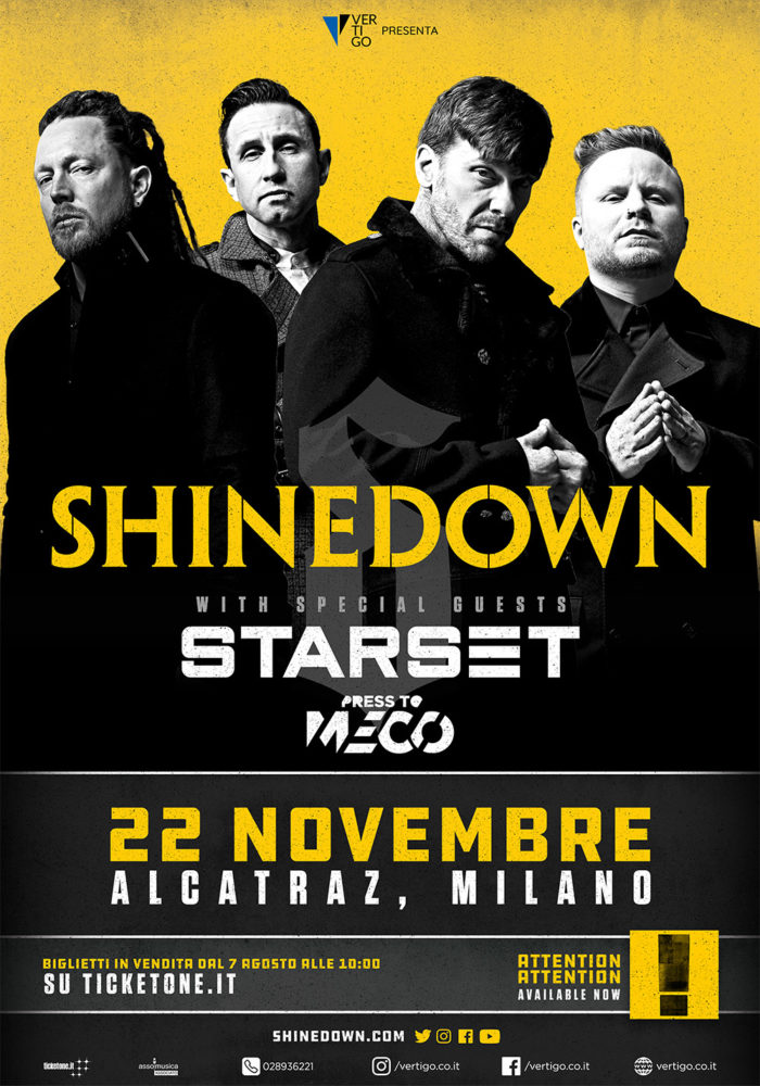 Shinedown - Starset - Press To Meco - Alcatraz - Live 2018 - Promo
