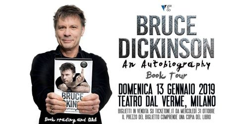 Bruce Dickinson - What Does This Button Do - Book Reading - Teatro Del Verme 2019 - Promo