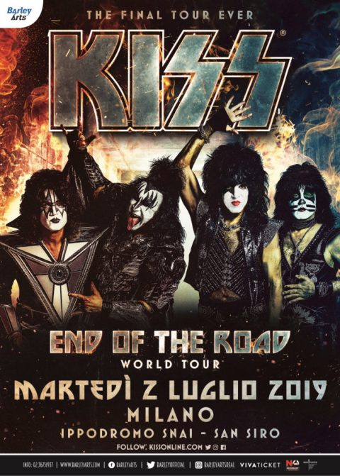 Kiss - Ippodromo Snai - End Of The Road - Tour 2019 - Promo