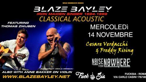 Blaze Bayley - Cesare Verdacchi - Freddy Rising - Noise From Nowhere - Fucksia - Tour 2018 - Promo