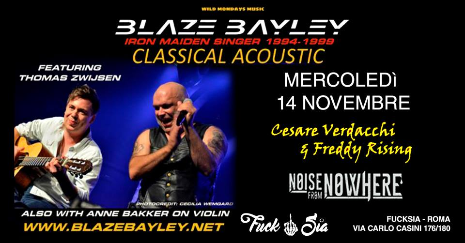 Blaze Bayley - Cesare Verdacchi - Freddy Rising - Noise From Nowhere - Fucksia - Tour 2018 - Promo