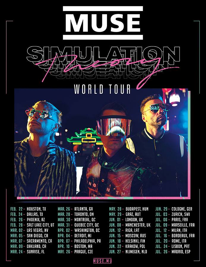 Muse - Simulation Theory World Tour - 2019 - Promo