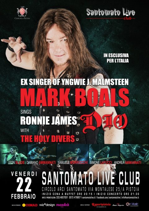Mark Boals - The Holy Divers - Santomato Live Club - Live 2019 - Promo