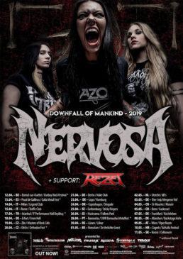 Nervosa - 2 date in Italia ad aprile 2019