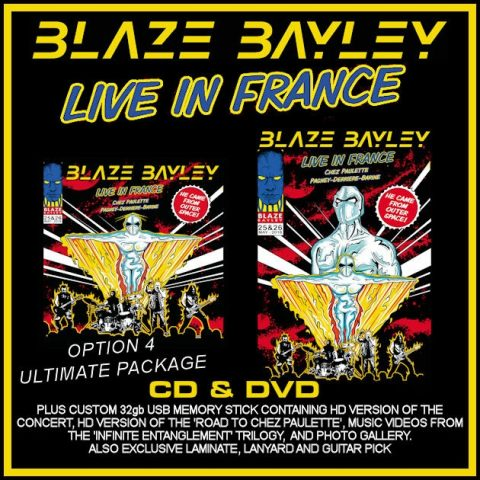 Blaze Bayley - Live In France - Album Cover