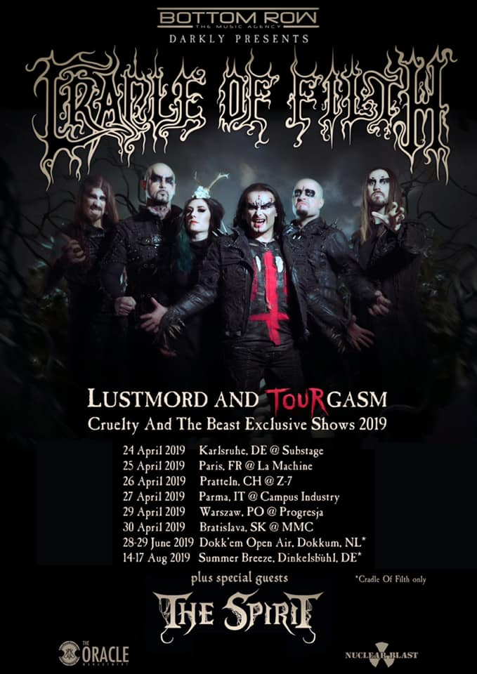 Cradle Of Filth - The Spirit - Lustmord And Tour Gasm 2019 - Promo