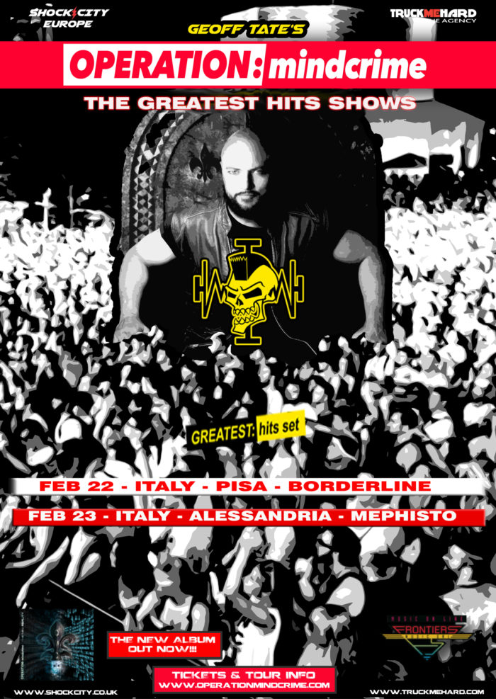 Geoff Tate - Operation Mindcrime - The Greatest Hits Shows - Tour 2019