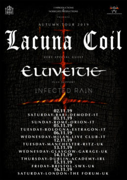 Lacuna Coil + guests - Autumn Tour 2019 le date italiane.